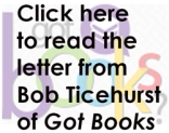 Click here to read the letter from Got Book's Bob Ticehurst
